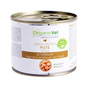 OrganicVet Cat Single Protein - Kalkoen - 6 x 200 gram