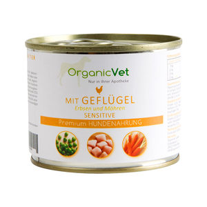 OrganicVet Dog Sensitive - Gevogelte - 6 x 200 gram