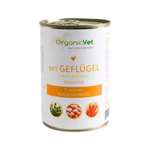 OrganicVet Dog Sensitive - Gevogelte - 6 x 400 gram