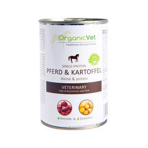 OrganicVet Dog Veterinary Diet Single Protein – Paard – 6 x 400 gram
