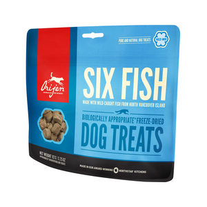 Orijen Dog Treats Freeze Dried Whole Prey – Six Fish (ca. 40 stuks)