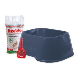 PeeWee EcoClassic - Kattenbak - Startpakket Blauw
