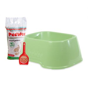 PeeWee EcoClassic - Kattenbak - Startpakket Groen