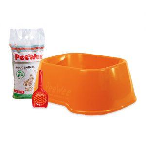 PeeWee EcoClassic - Kattenbak - Startpakket Oranje