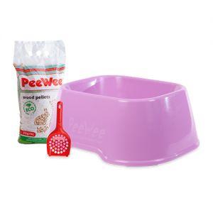 PeeWee EcoClassic - Kattenbak - Startpakket Roze