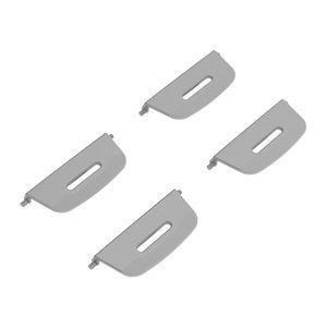 PeeWee EcoDome – Clips – Zilver – 4 stuks