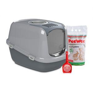 PeeWee EcoDome - Kattenbak - Startpakket Antraciet/Grijs