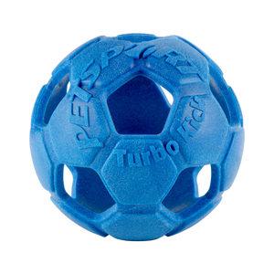 Petsport Turbo Kick Soccer Ball - Blauw - 10 cm
