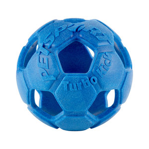 Petsport Turbo Kick Soccer Ball - Blauw - 15 cm