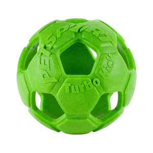 Petsport Turbo Kick Soccer Ball - Groen - 15 cm