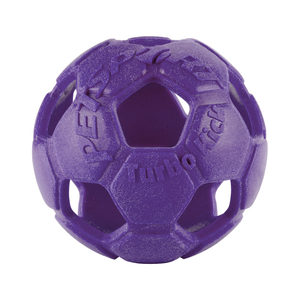 Petsport Turbo Kick Soccer Ball - Paars - 10 cm