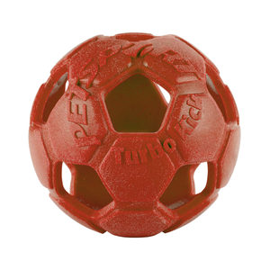 Petsport Turbo Kick Soccer Ball - Rood - 15 cm