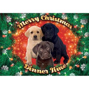 Plenty Gifts - Xmas Placemat Labrador Pups - 42 x 30 cm