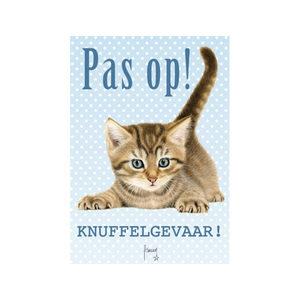 Plenty Gifts Waakbord – Franciens Katten – Pas op! Knuffelgevaar