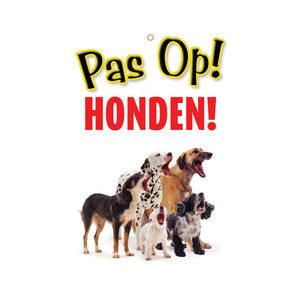 Plenty Gifts Waakbord – Pas op! Honden