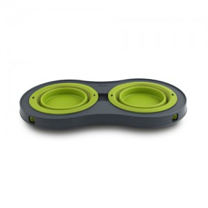 Popware Double Elevated Feeder - Groen