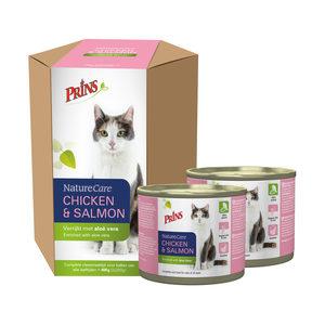 Prins NatureCare Cat – Chicken & Salmon – 2 x 200 g