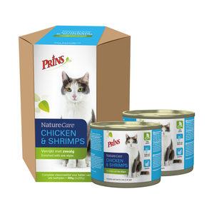 Prins NatureCare Cat Chicken & Shrimps – 2 x 200 g