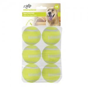 AFP Interactive Hyper Fetch Super Bounce Tennis Balls - 6 stuks