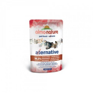 Almo Nature Alternative Cat Natvoer - Kippenborst - 24 x 55 gram