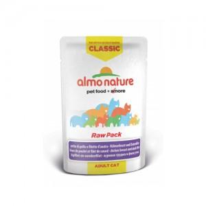 Almo Nature Classic - Raw Pack Kipfilet en Eendenfilet - 24 x 55 gr