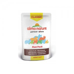 Almo Nature Classic - Raw Pack Kippenbout - 24 x 55 gr