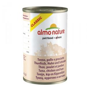 Almo Nature Classic Tonijn Kip en Ham 24x140g