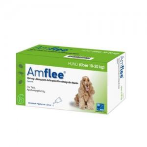 Amflee Spot-on Hond - 134 mg - 6 pipetten THT 03-2018