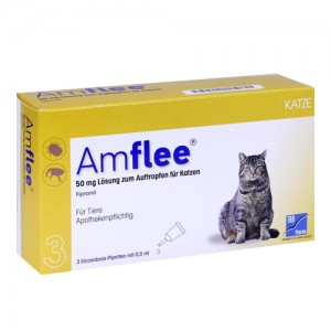 Amflee Spot-on Katze - 3 Pipetten