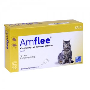 Amflee Spot-on Katze - 6 Pipetten
