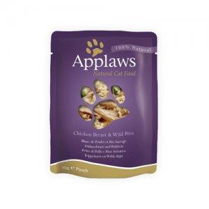 Applaws Cat - Chicken Breast & Wild Rice in Broth - 12 x 70 g
