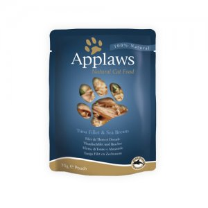 Applaws Cat - Tuna Fillet & Sea Bream in Broth - 12 x 70 g