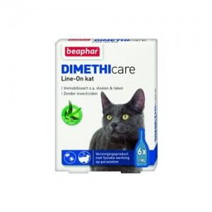 Beaphar DIMETHIcare Line-on Kat - 6 pipetten
