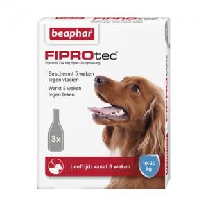 Beaphar FiproTec Spot-On Hond 10 - 20 kg - 3 pipetten