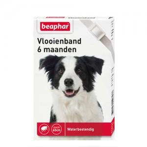 Beaphar Vlooienband Hond - 6 maanden - Wit