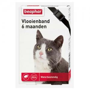 Beaphar Vlooienband Kat - 6 maanden - Zwart