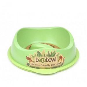 Beco Slow Feed Bowl - Groen