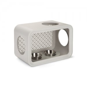Beeztees Cat Cube Dinner - Dune Grey