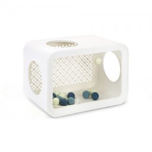 Beeztees Cat Cube Play - Angora White