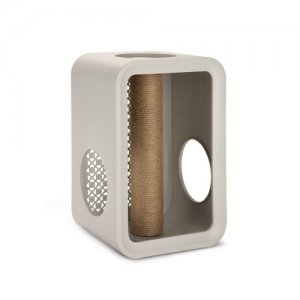 Beeztees Cat Cube Scratch - Dune Grey