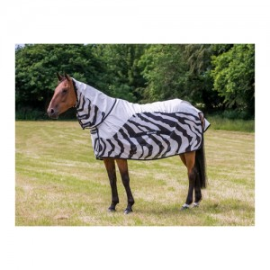 Bucas Buzz-Off Rain Zebra Full Neck - 155