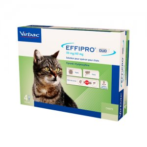 Effipro DUO Spot-on Kat < 6 kg - 4 Pipetten