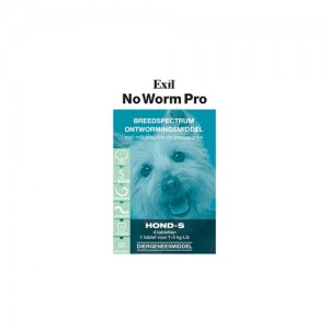 No Worm Pro Kleine Hond en Puppy - 4 tabletten
