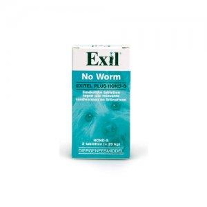 No Worm Exitel Plus Hond - 2 tabletten (vanaf 0,5 kg)