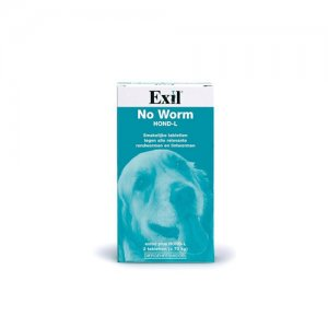 No Worm Exitel Plus XL Hond - 2 tabletten (vanaf 17,5 kg)