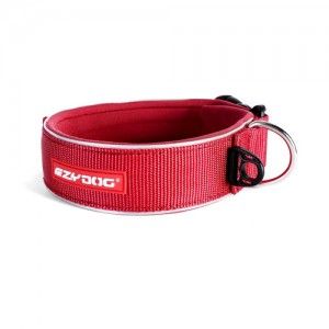 EzyDog Neo Wide Halsband - XXXL - Rood