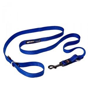 EzyDog Vario 4 lijn - Blauw - 12mm - Lite Leash