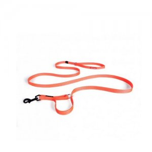 EzyDog Vario 4 lijn Neon Oranje 12mm Lite Leash