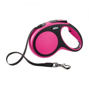Flexi Rollijn New Comfort – Tape Leash – L (5 m) – Roze