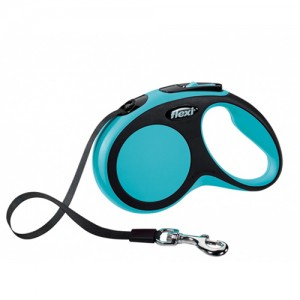 Flexi Rollijn New Comfort - Tape Leash - S (5 m) - Blauw